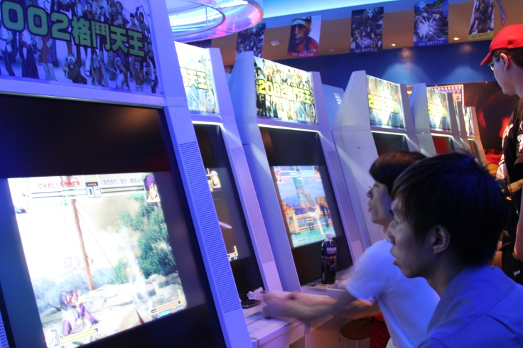 King of fighters machines in Taipei--legions of them.