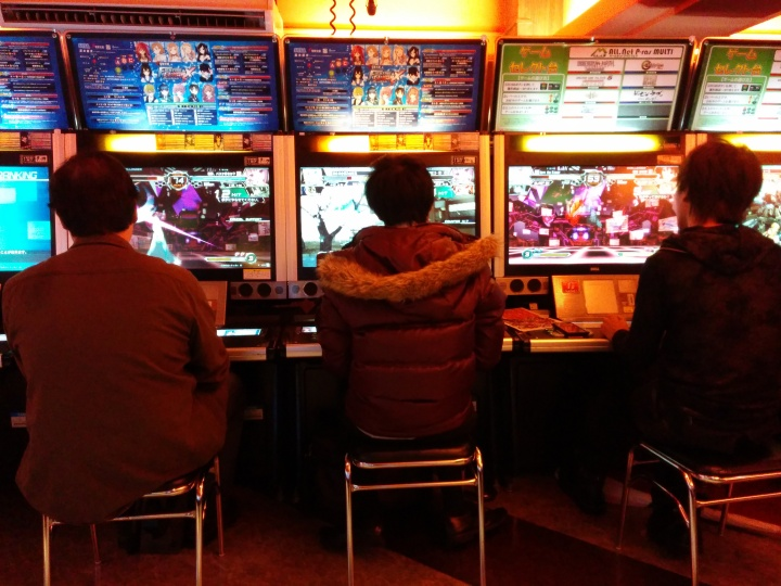 Huy playing Dengeki Bunko Fighting Climax for the first time.